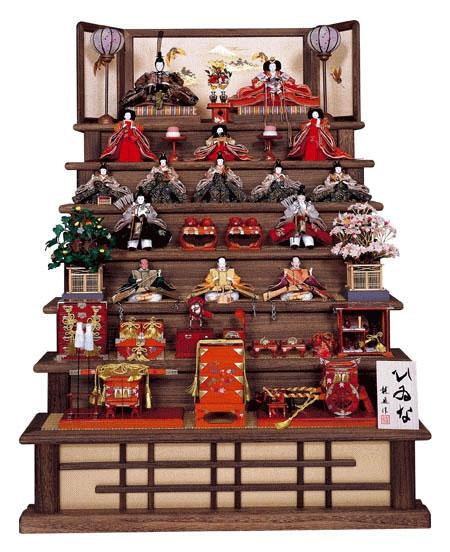 小木人形店 オリジナル焼桐七段飾り