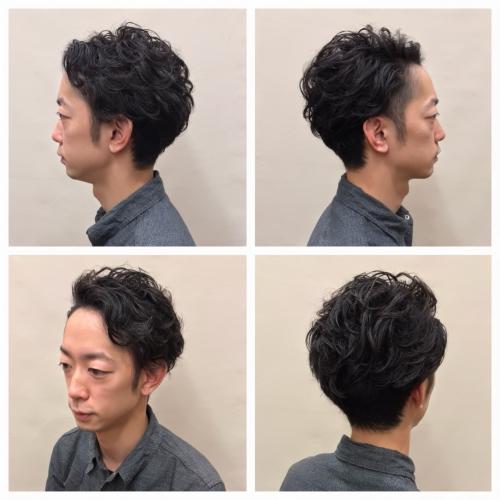 メンズヘア ショートヘア ツーブロック 髪型