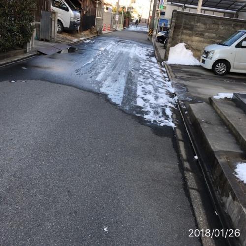 名古屋雪で混乱