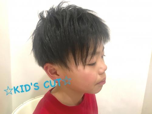 キッズカット 小学生のカッコ良いヘア  調布美容院