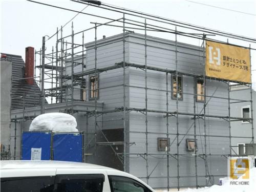 ☆新築戸建物件☆江別市建築中現場情報を更新!外壁工事♪