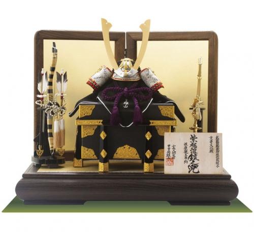 重文模写鎧「紫裾濃威し大鎧」の模写兜飾り