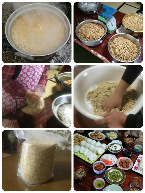 麦味噌作り