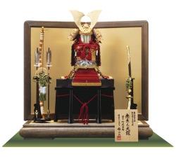 国宝模写「竹に虎雀」1/4大鎧飾り