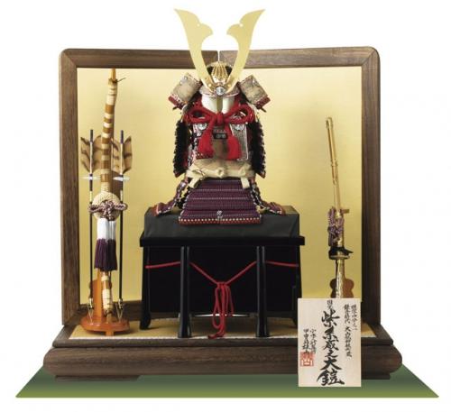 国宝模写「紫糸威」1/4大鎧飾り
