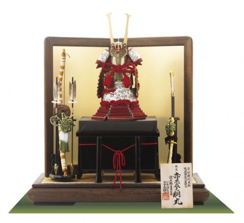 国宝模写「赤糸威胴丸」1/4鎧飾りセット