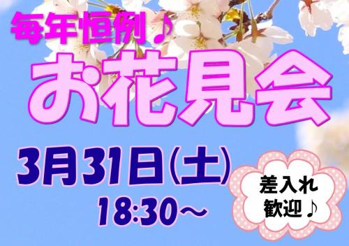 3/31(土)お花見会開催♪