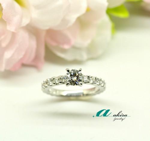 美浜区からお越しのお客様の婚約指輪のジュエリーリフォームです