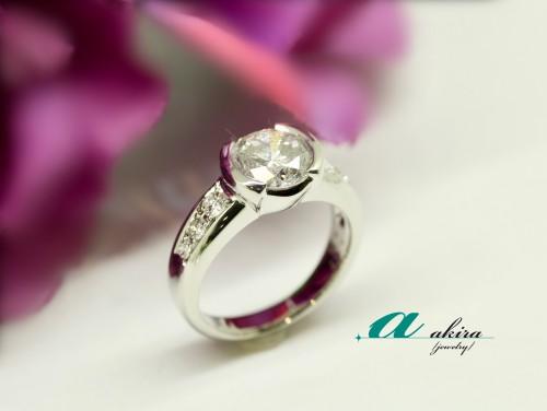 2ctダイヤモンドを指輪にジュエリーリフォーム致しました