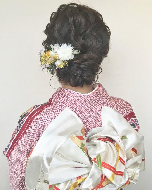 brambly 髪飾り振袖 着物 着付けヘアセット