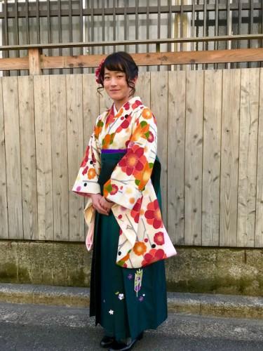 【卒業式】千歳烏山駅の美容室YOUで卒業式の着付け