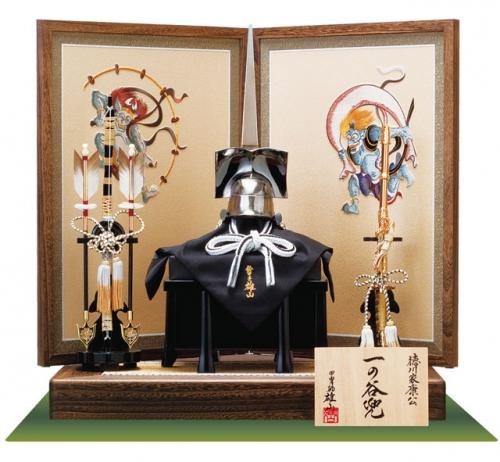 徳川家康公「一の谷形」兜模写飾りセット
