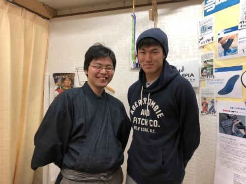 ヤマダ電機陸上競技部所属110mハードル札場大輝選手が来院!