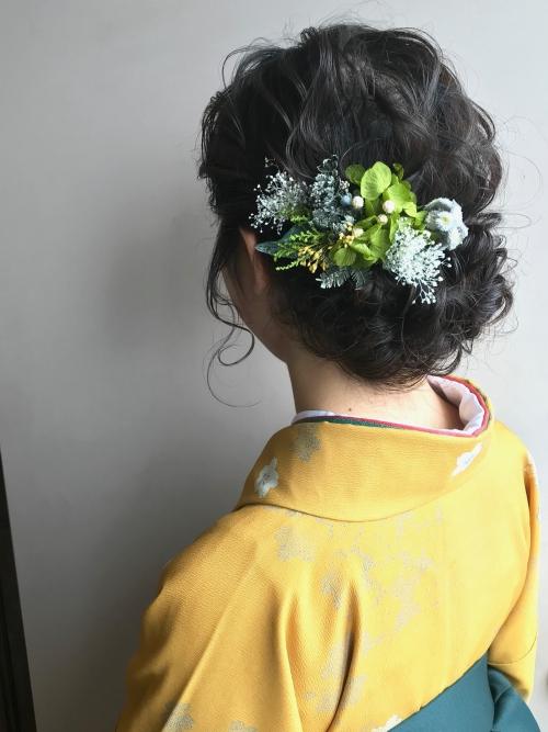 卒業式 アップスタイル 袴  brambly  髪飾り