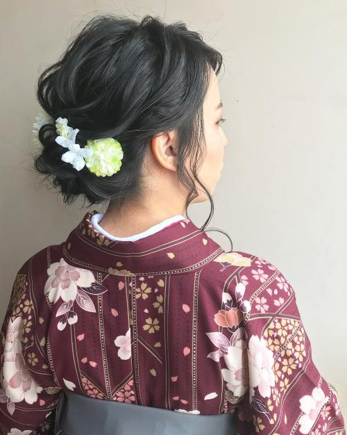 卒業式 2018年 ヘアセット メイク 袴 着付け