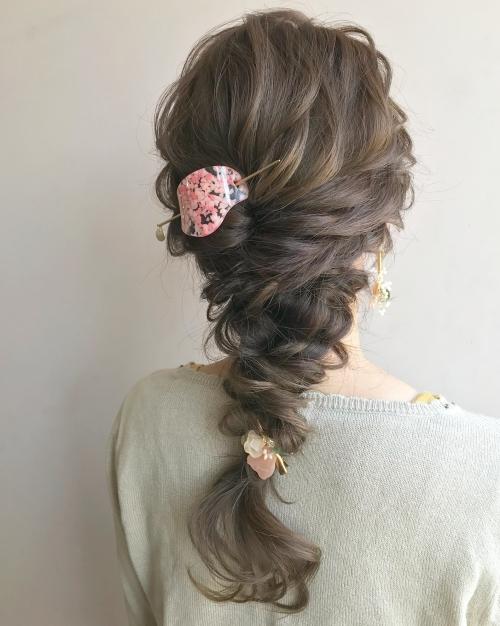 cilsoie マジェステ ピンク 編みおろしスタイル