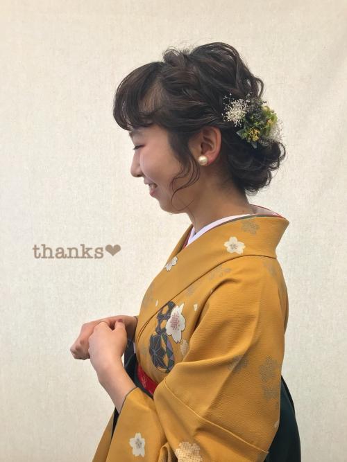 卒業式 2018 ヘアセット 袴 着付け 黒髪