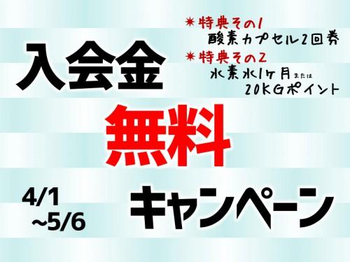 春の入会金無料キャンペーン4/1(日)から!