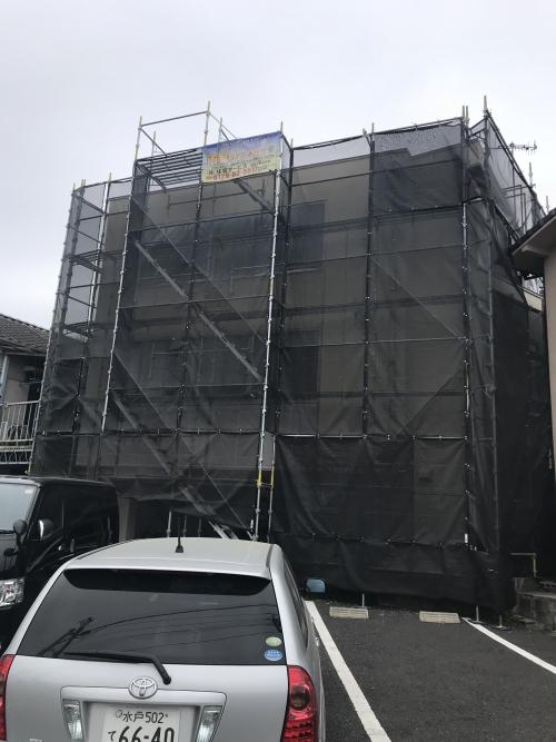 雨漏り補修 外壁塗装 水戸市にて