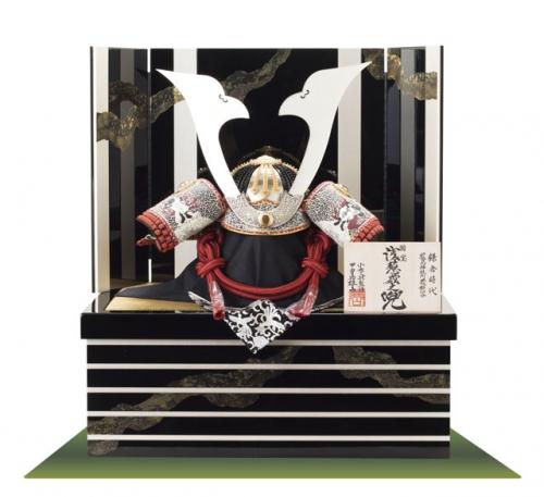 国宝模写「浅葱糸威」兜収納飾り