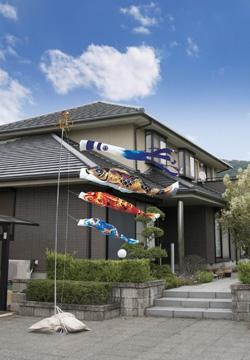 青空高く泳ぐ鯉のぼりガーデンセット