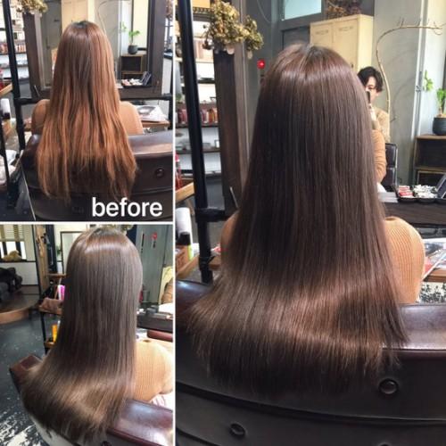 最新の髪質改善OHカラーの効果♪ 繰り返すほど美髪ヘアに!