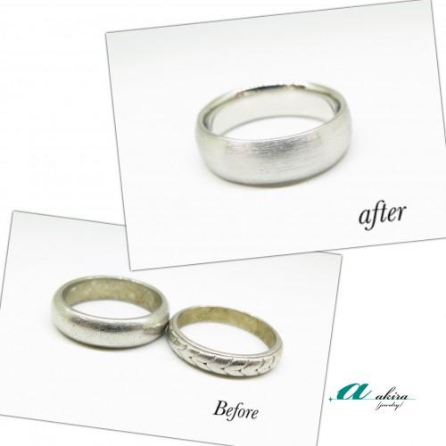 千葉市花見川区から結婚指輪のリメイクを致しました