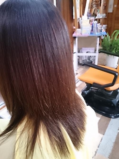 汗などで髪が膨らむ前に、縮毛矯正♪