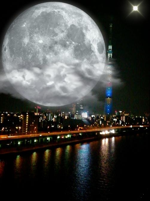 4月30日満月です。