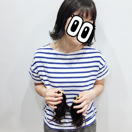 人気ヘアドネーションヘアスタイル調布美容室