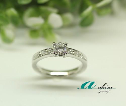 婚約指輪のダイヤモンドを使いリメイク致しました