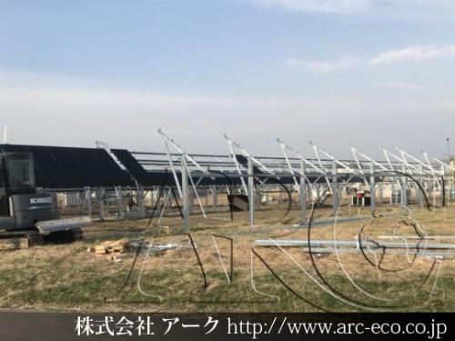 [白老町」工事中太陽光発電現場情報を更新!