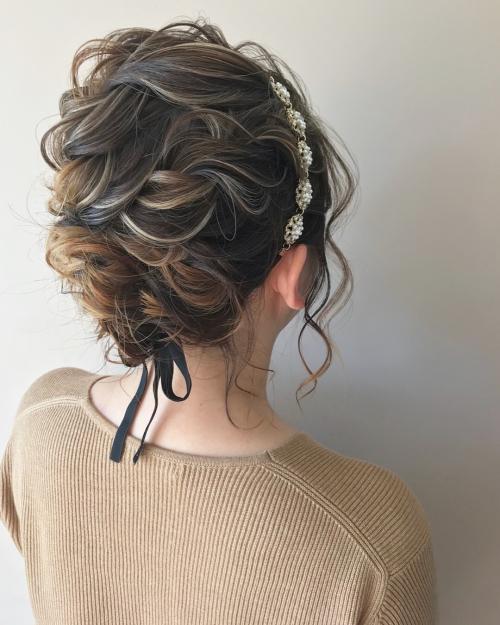 結婚式 お呼ばれアレンジ アップスタイル 髪型