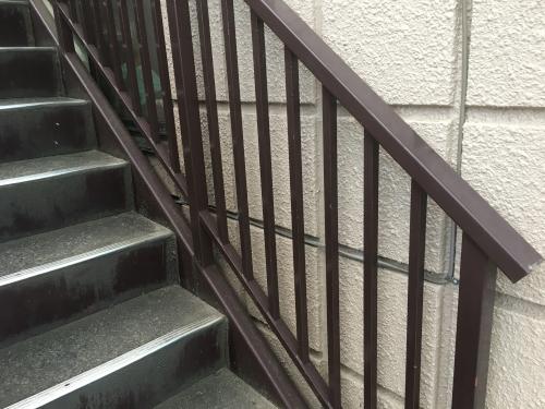 埼玉県蓮田市にて鉄骨階段塗装