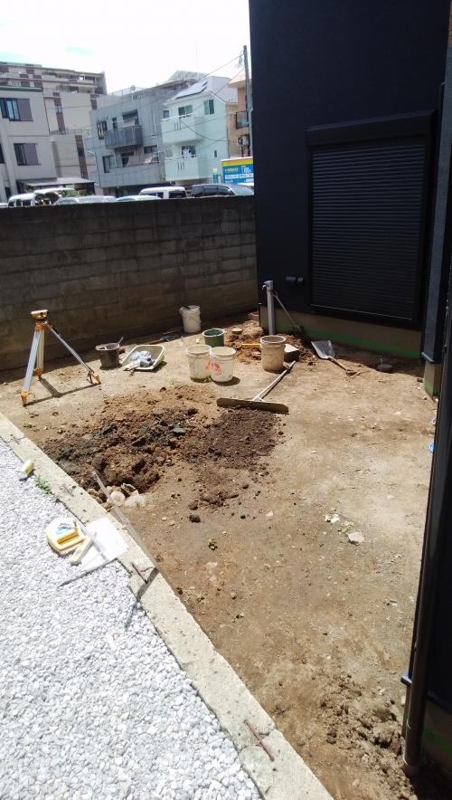戸塚区でコンクリート工事。