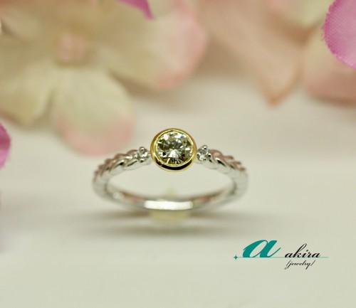 君津市から御来店のお客様の婚約指輪の御納品でした