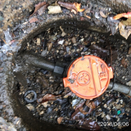 水道メーター移設