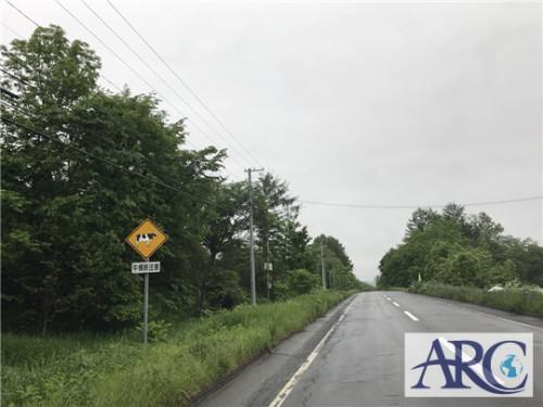 土地買取りスタッフが出会う広い北海道ならではの標識や景色