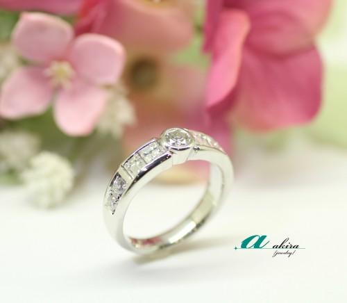 おばあ様の形見の指輪を使ってデザイン変更