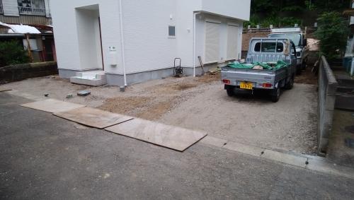 逗子市で外構工事です。