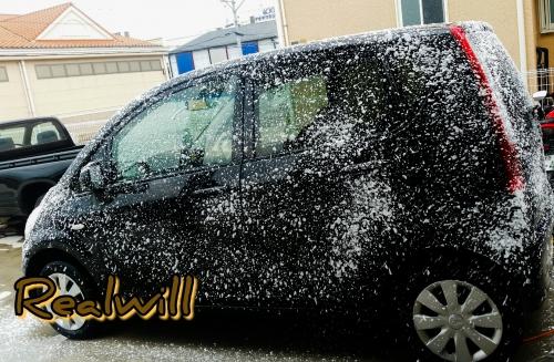 ダイハツMoveの車検&泡洗車
