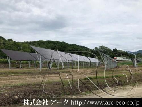 [三笠市」工事中太陽光発電現場情報を更新!
