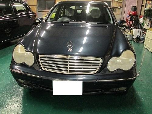 ベンツの天井張替(剥がれ)|愛知県名古屋市T様のお車