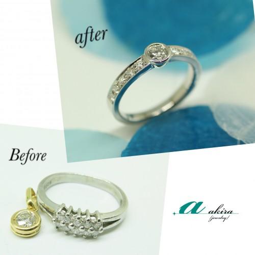 結婚10周年記念に指輪のリフォーム