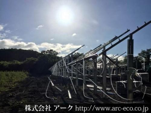 [森町」工事中太陽光発電現場情報を更新!