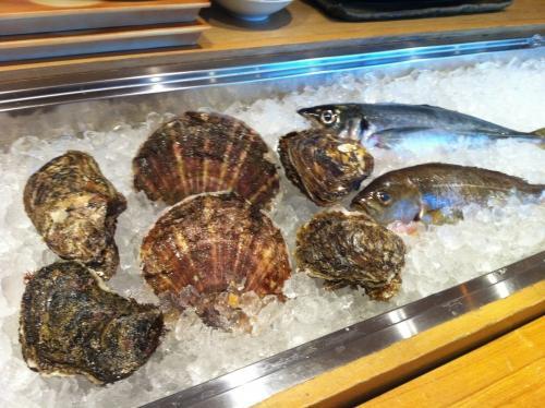 いさき、岩牡蠣、鯵、ホタテにはまぐり入荷!