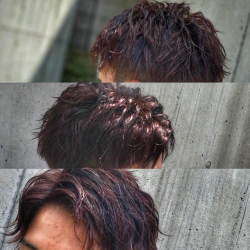 メンズヘア カラー ローライト 調布美容院