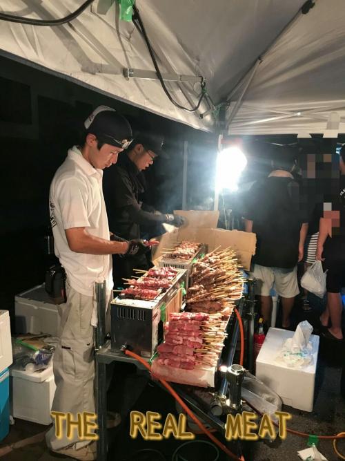 リアルミート★須賀川の花火大会〜釈迦堂川〜屋台出店