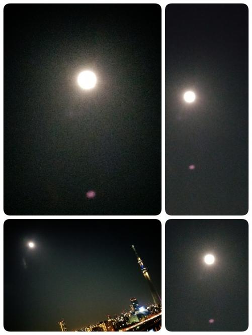 満月が、輝いてます!