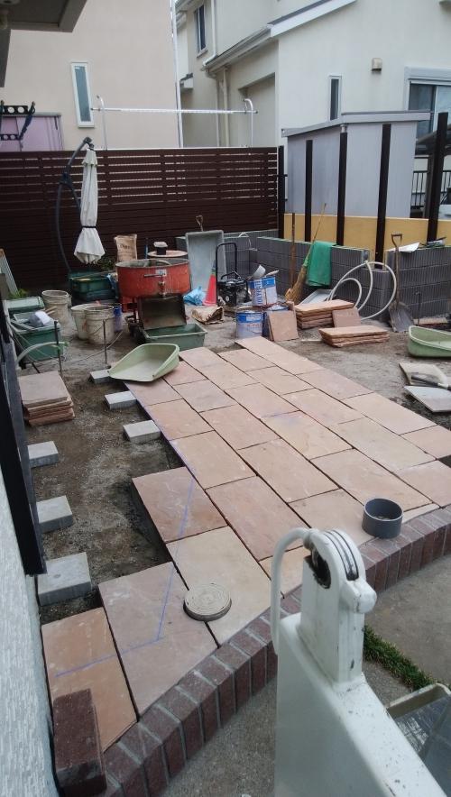瀬谷区で庭のリニューアル工事。
